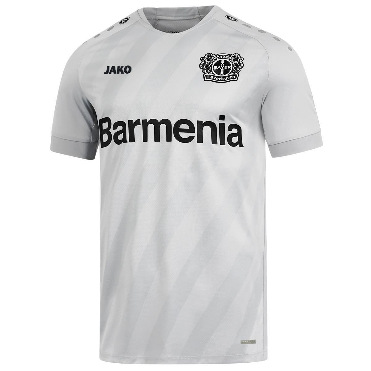 JAKO Bayer 04 Leverkusen Poloshirt Premium grau B04 Polo Shirt Fan Jersey S-3XL