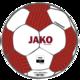 Trainingsball Striker 2.0 weiß/weinrot/neonorange Vorderansicht