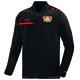 Bayer 04 Leverkusen Opwarmjas   schwarz/rot vooraanzicht