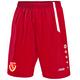 FC Energie Cottbus Short Home rot/weiß Vorderansicht
