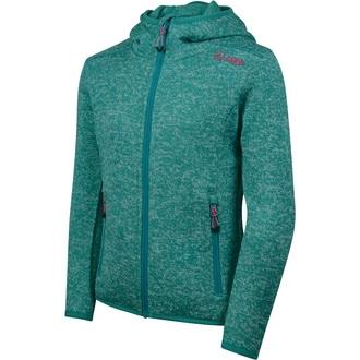 Knitted fleece with hood